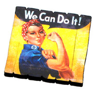 MA-RR Rosie the Riveter Fence Magnet