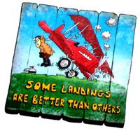 MA-SL Some Landings are Better than Others Fence Magnet