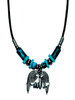 Airplane on Wings Cord Necklace JN-AWING