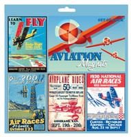Vintage Aviation Sign Magnet Set (includes 4) MA-VM