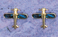 Airplane Paua Shell post earrings JEP-APS
