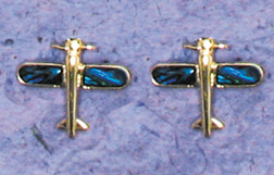 Airplane Paua Shell post earrings JEP-APS