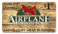 Vintage Metal Sign - Airplane Rides $1 SIGN-AIRPLANE RIDES
