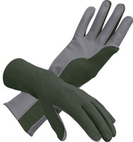 Nomex Flight Gloves in Sage Green - SkySupplyUSA