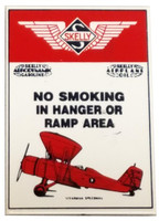 No Smoking In Hangar Porcelain Magnet Magnet-No Smoke
