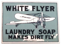 White Flyer Soap Porcelain Magnet Magnet-White Flyer