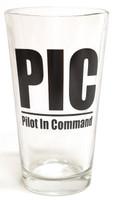 Pilot In Command 16 oz. Pilsner Glass Pilsner-PIC