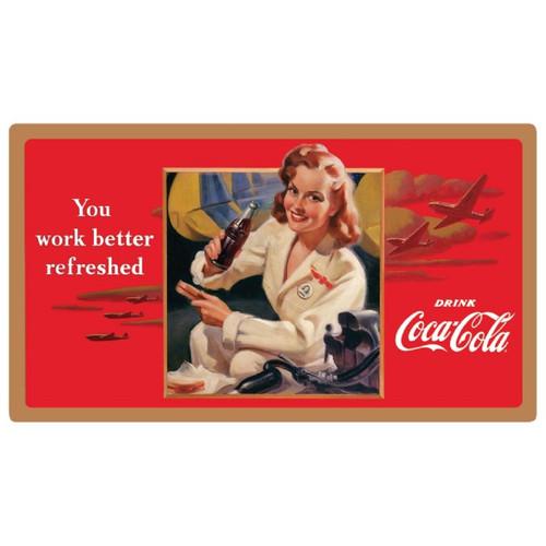 "Coke ""Work Refreshed"" Beauty Sign  Sign-Coke-Beauty"