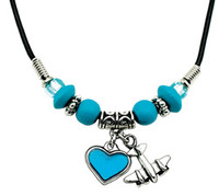 Airplane Colored Heart Necklace JN-ACHR