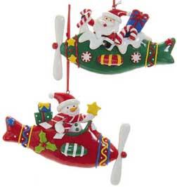 Snowman & Santa Ornaments (Each) OR-SMS