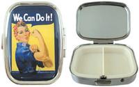 Born Rosie The Riveter Pill Box AN-RRPB