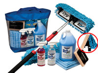 Waterless Wash Wax Mop Kit with Bug Scrubber/Mini Mop Head  WWMKBS