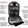 MyGoFlight PLC Pro Bag - open  front pocket view with features