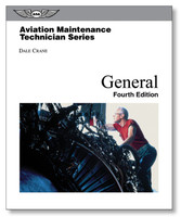 The Aviation Maintenance Technician: General is the first book of Dale Crane's AMT Series, textbooks created to set the pace for maintenance technician training and serve as an essential resource to pass the FAA Knowledge Exam. General covers the first section of the FAA's required curriculum, incorporating an introduction to aviation along with basic lessons on mathematics, physics, and electricity. As the student progresses, specific aviation concerns are addressed, including regulations, mechanic privileges, forms, aircraft hardware and tools.  A study guide is included within each textbook in the form of study question sections, with answer keys printed at the end of each chapter. These can be used for evaluation by an instructor or for self-testing. ASA's mechanic textbooks are all-inclusive—no separate, inconvenient workbook is needed by the student or instructor.  Dale Crane's textbooks consist of the most complete and up-to-date material for A&P training. The curriculum meets 14 CFR Part 147 requirements and Subject Matter Knowledge Codes from the FAA mechanics knowledge tests. They are designed for at-home, classroom, or university-level training. These comprehensive textbooks include full-color charts, tables and illustrations throughout, in addition to an extensive glossary, index, and additional career information.  784 pages. Hardcover.  ISBN: 978-1-61954-517-5