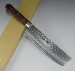 Sakai Takayuki 17-Layer VG10 Damascus Hammered Vegetable Knife 160mm