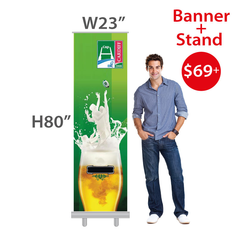$69+ Cheap Retractable Banner Stand + Print (Vinyl Banner included)