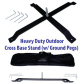 Outdoor Cross Pole Stand