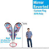 7ft Teardrop Banner (mirror reverted back)