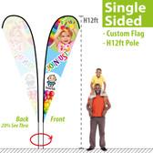 H12ft Teardrop Banner (single-sided)