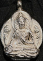 Tibet Pendant. Small silver Buddha, Green Tara, Padmasambhawa, White Tara, Majushri,and More. At Tibet Spirit Store.