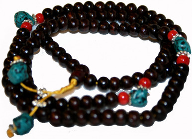 Tibet Rosewood Mala Prayer Beads. 108 beads At Tibet Spirit Store