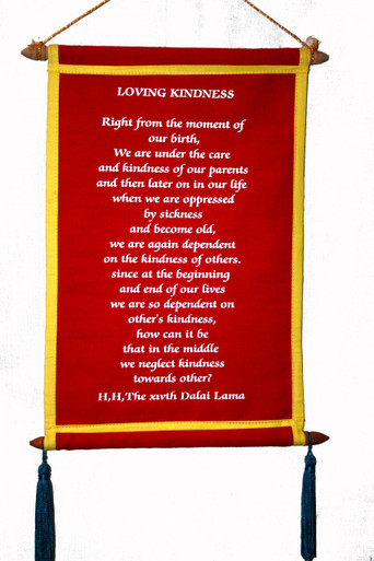 Tibet Loving kindness hanging scroll. At Tibet Spirit Store