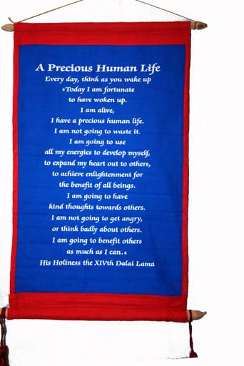Tibet Wall Hanging: A Precious Human Life. At Tibet Spirit Store