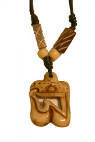 Tibetan Om Symbol Yak Bone Necklace. At Tibet Spirit Store