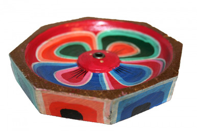 Incense Burner. Handmade and painted. Multi-colored. Unique. At Tibet Spirit Store