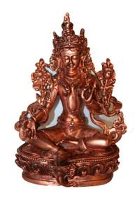 "Tibet Green Tara 6"" Resin Statue."