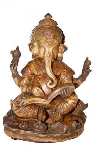 "Ganesh statue. Sepia Tone. 6"" At Tibet Spirit Store"