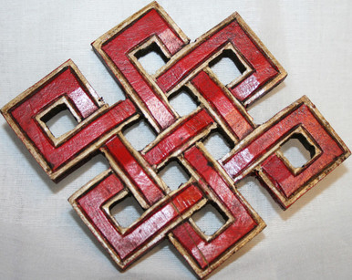 Tibet Endless Knot. Hand Carved. At Tibet Spirit Store