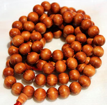 Mala Prayer Beads. Exclusive to Tibet Spirit. Six syllable Mantra. Wood. At Tibet Spirit Store