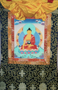 Shakyamuni Buddha Thangka Hanging Scroll. Tibet Spirit Store