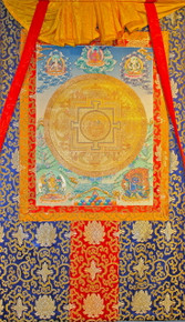 Gold Green Tara, Tibetan Buddhist Mandala Thangka