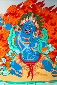 Vajrapani Thangka  Hanging Scroll. Tibet Spirit Store.