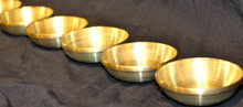 Tibetan Water Offering Brass  Bowls, Set of Seven