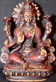 Two Tone Color Lakshmi Statue At Tibet Spirit Store.