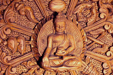 Beautiful Hand Carved Wooden Buddha Mandala Tibet Spirit Store