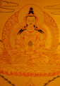 Amitayus Buddha  Gold Painted Thangka.