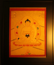 Amitabha Buddha  Gold Painted Thangka framed