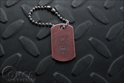 Steel Flame - Kuma Korps - Advanced War Bear - Dog Tag - Copper