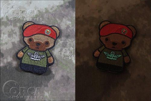 Kuma Korps - Singapore Army Airborne Bear - Morale Patch - GID