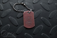 Steel Flame - Kuma Korps - Advanced War Bear - Dog Tag - Copper