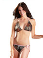 mossy oak camouflage pink trimmed string bikini bathing suit top and bottom