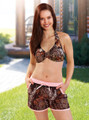 mossy oak board shorts and halter top camoflauge  bathing suit