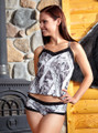 complete set of boy shorts and camisole from the Naked North Snow Collection