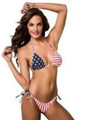 American Flag String Tie Side Bikini - Stars and Stripes