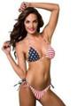 American Flag String Tie Side Bikini - Stars and Stripes