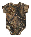 Realtree Baby Clothing - This Camouflage Baby Onesie has the Ap print on it and perfect for little boys or girls.